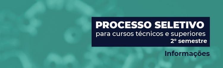 Processo seletivo 2 semestre 2020