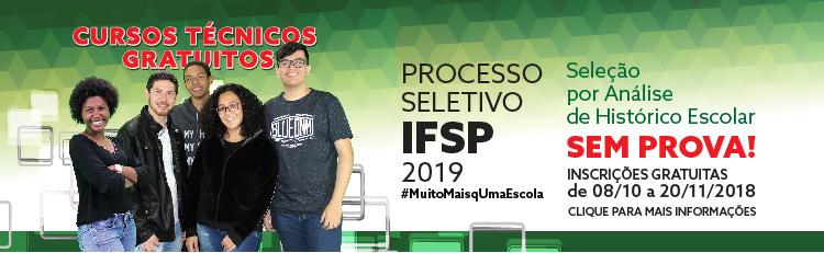 Processo seletivo 1 semestre 2019
