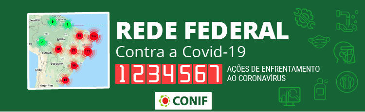 Banner Rede Federal contra a Covid-19
